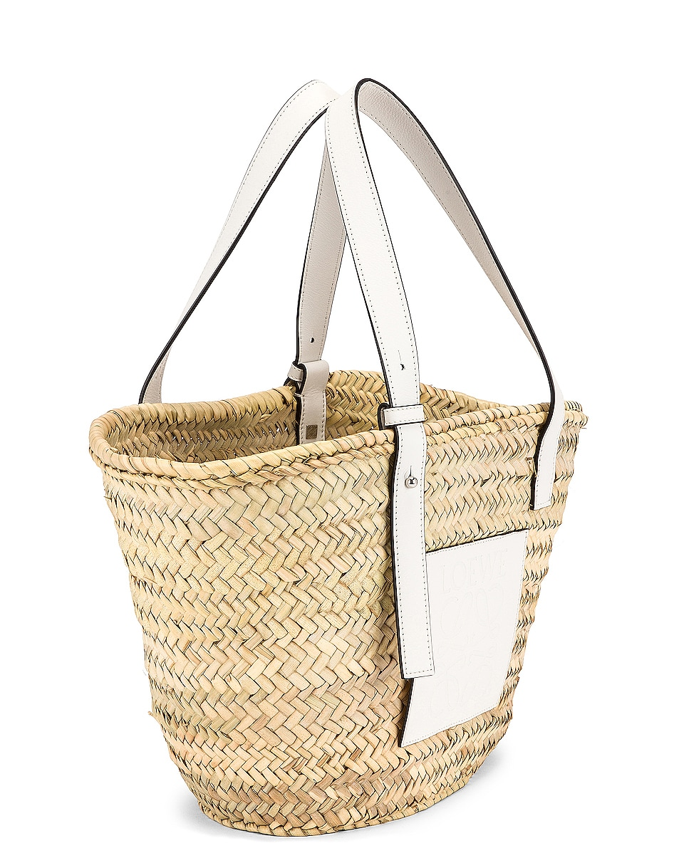 Image 4 of Loewe Basket Bag in Natural & White