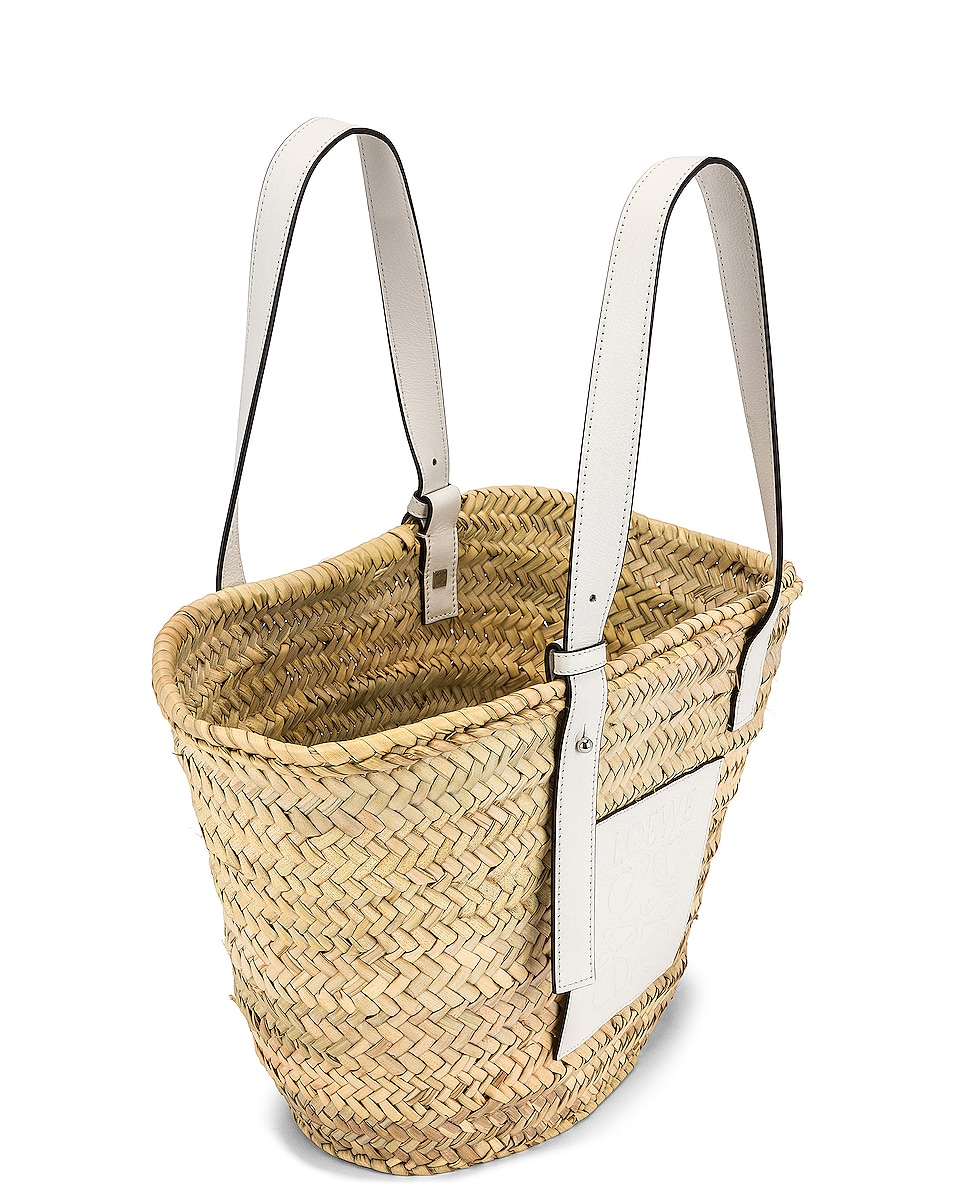 Image 5 of Loewe Basket Bag in Natural & White