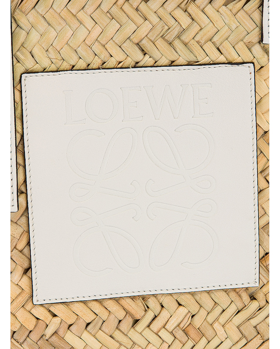 Image 7 of Loewe Basket Bag in Natural & White