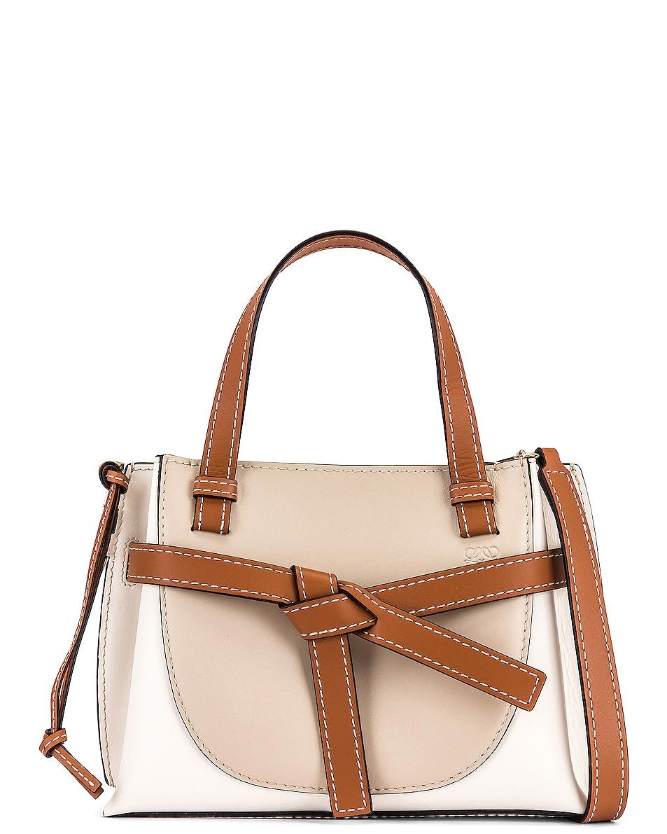 Image 1 of Loewe Gate Top Handle Mini Bag in Light Oat & Soft White
