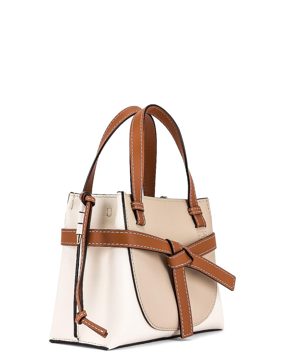 Image 4 of Loewe Gate Top Handle Mini Bag in Light Oat & Soft White