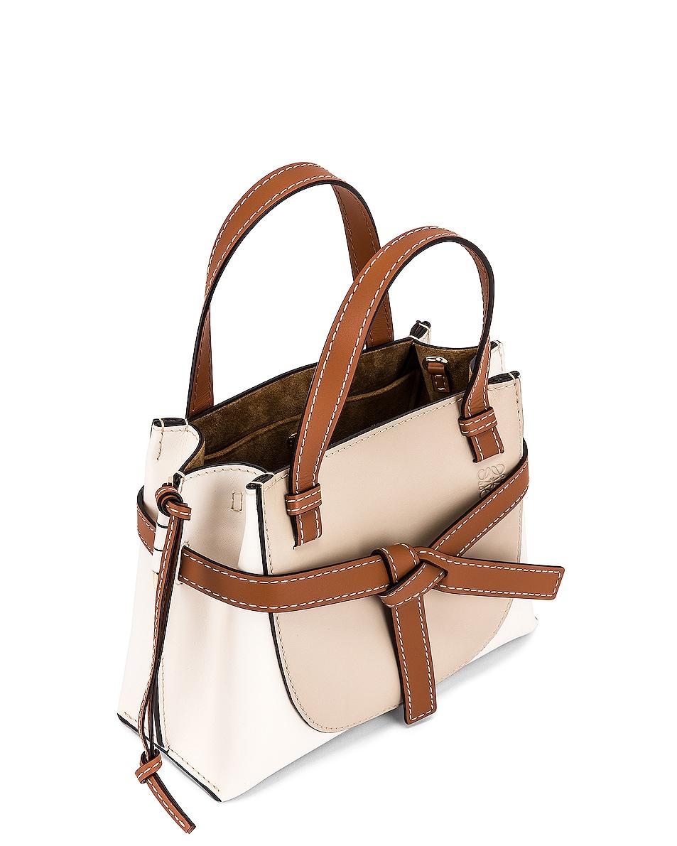 Image 5 of Loewe Gate Top Handle Mini Bag in Light Oat & Soft White