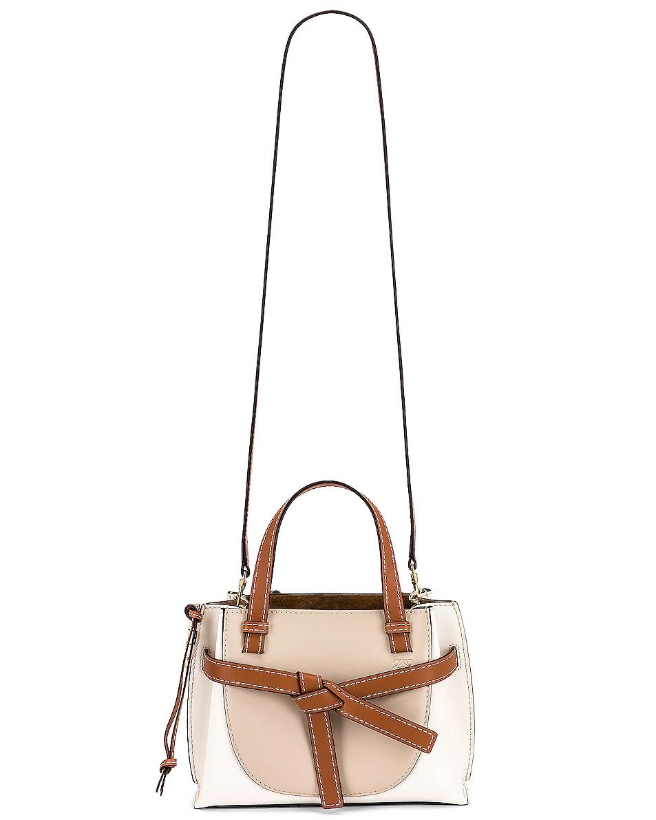 Image 6 of Loewe Gate Top Handle Mini Bag in Light Oat & Soft White
