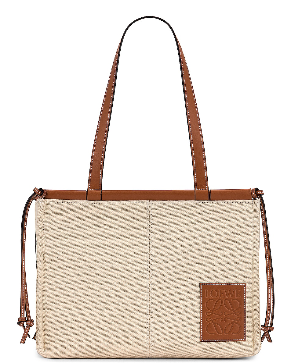 Image 1 of Loewe Cushion Tote Small Bag in Light Oat
