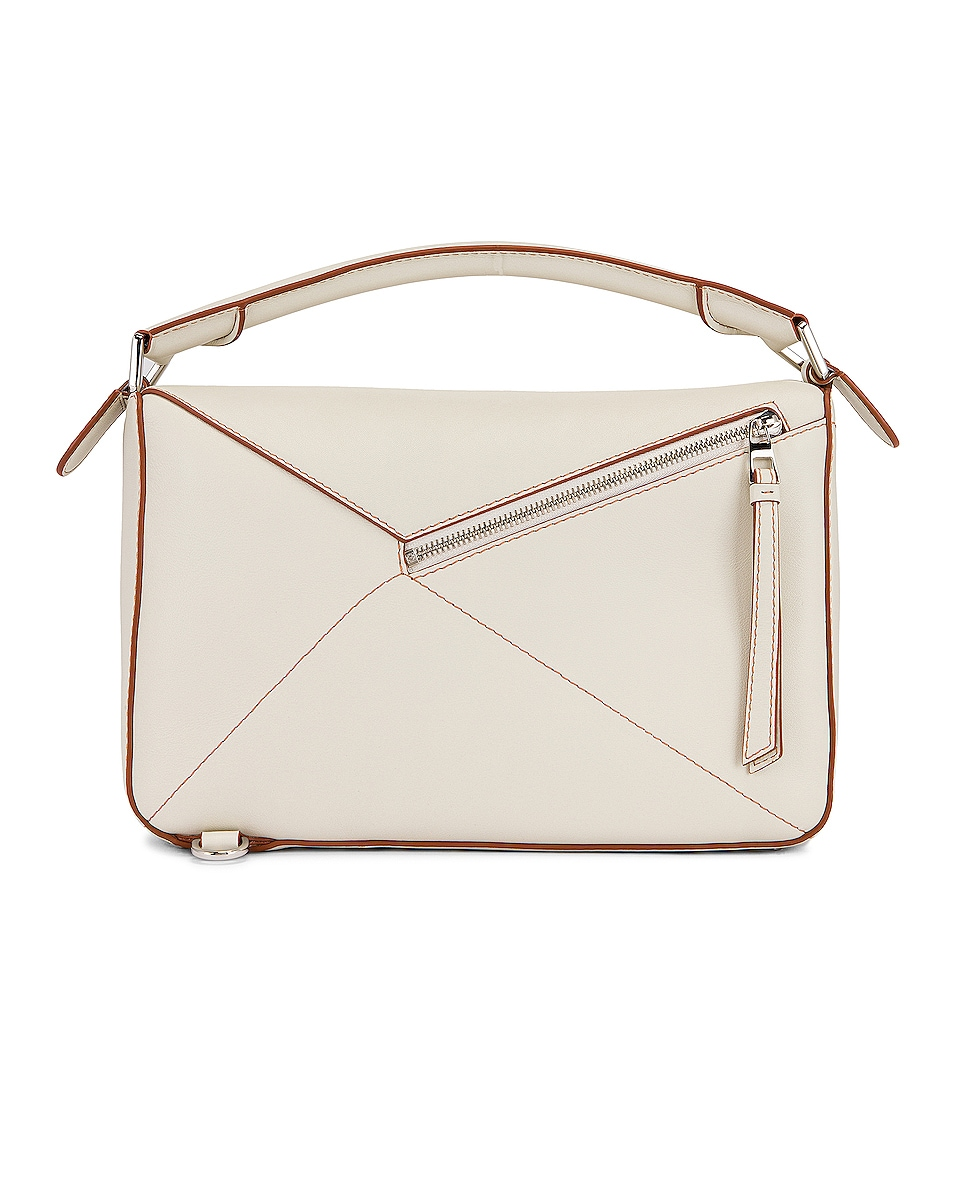 Image 3 of Loewe Puzzle Soft Bag in Soft White