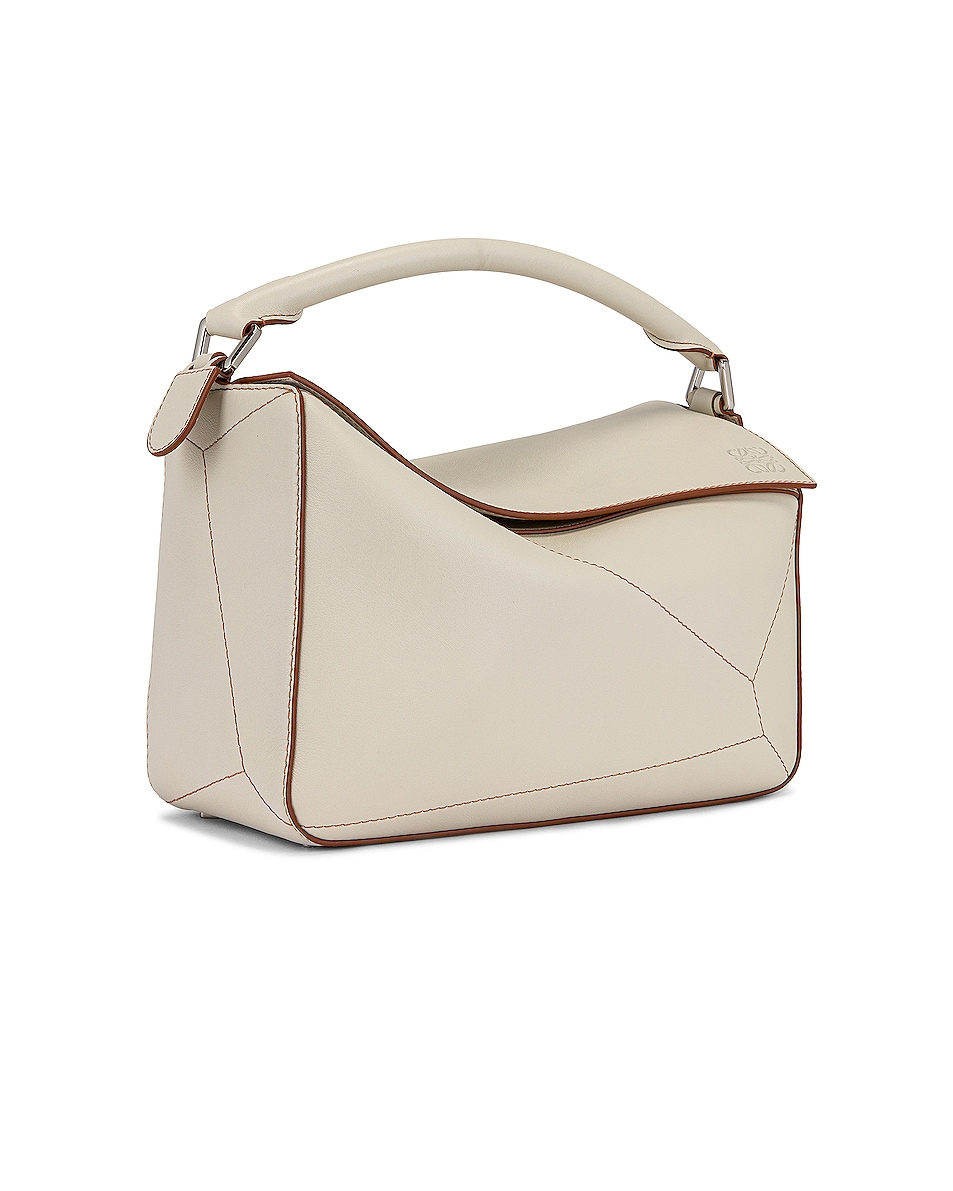 Image 4 of Loewe Puzzle Soft Bag in Soft White