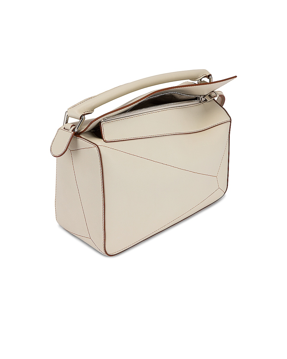 Image 5 of Loewe Puzzle Soft Bag in Soft White