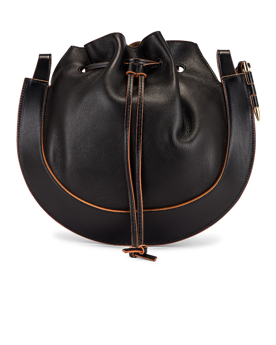 Image 3 of Loewe Horseshoe Bag in Black