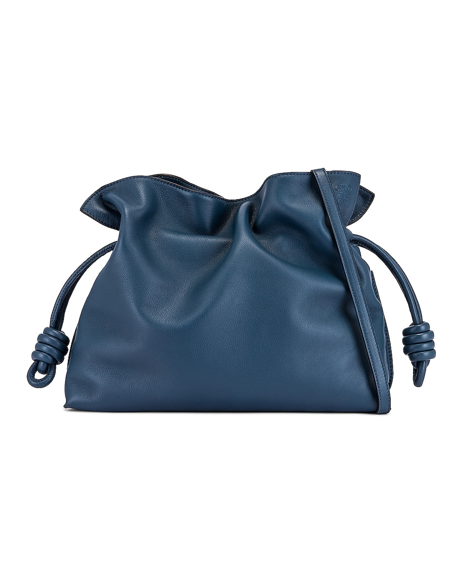 Image 1 of Loewe Flamenco Clutch in Varsity Blue