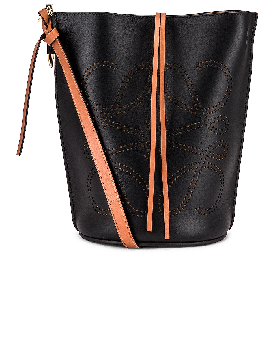 Image 1 of Loewe Gate Bucket Anagram Bag in Black & Tan