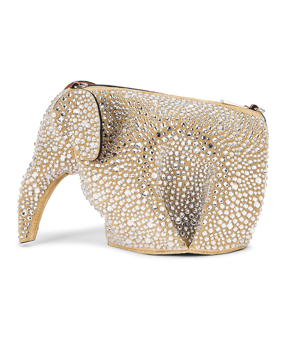 Image 1 of Loewe Elephant Mini Bag in Gold & Crystal