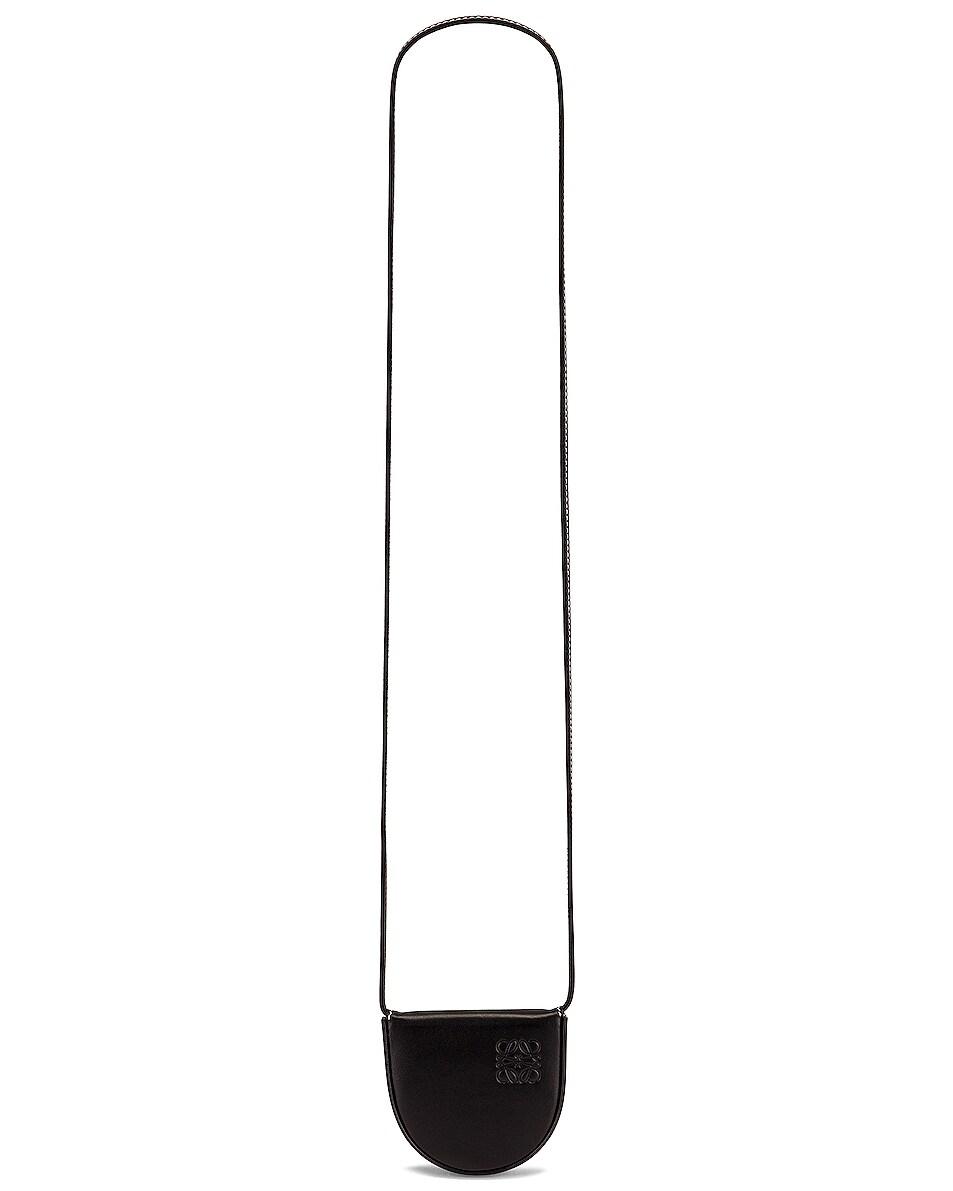 Image 1 of Loewe Heel Mini Pouch Bag in Black