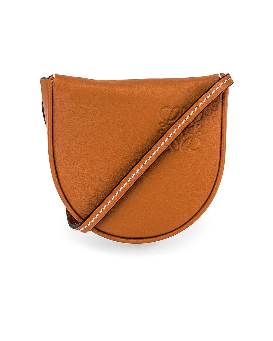 Image 1 of Loewe Heel Mini Pouch Bag in Tan