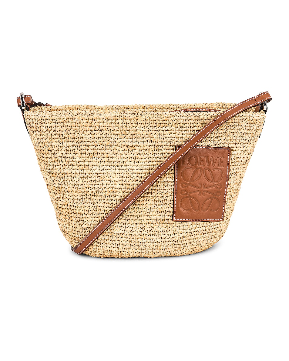 Image 1 of Loewe Pochette Bag in Natural & Tan