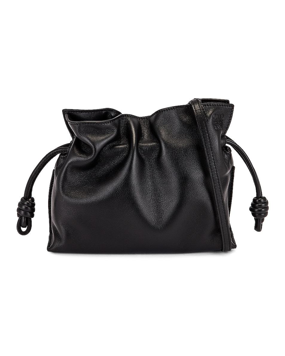 Image 1 of Loewe Flamenco Clutch Mini Bag in Black