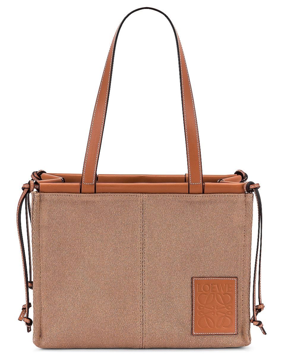 Image 1 of Loewe Cushion Tote Small Bag in Taupe