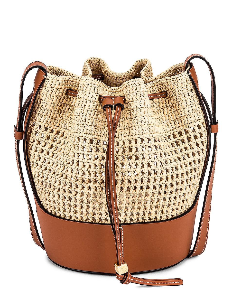Image 1 of Loewe Balloon Small Bag in Natural & Tan