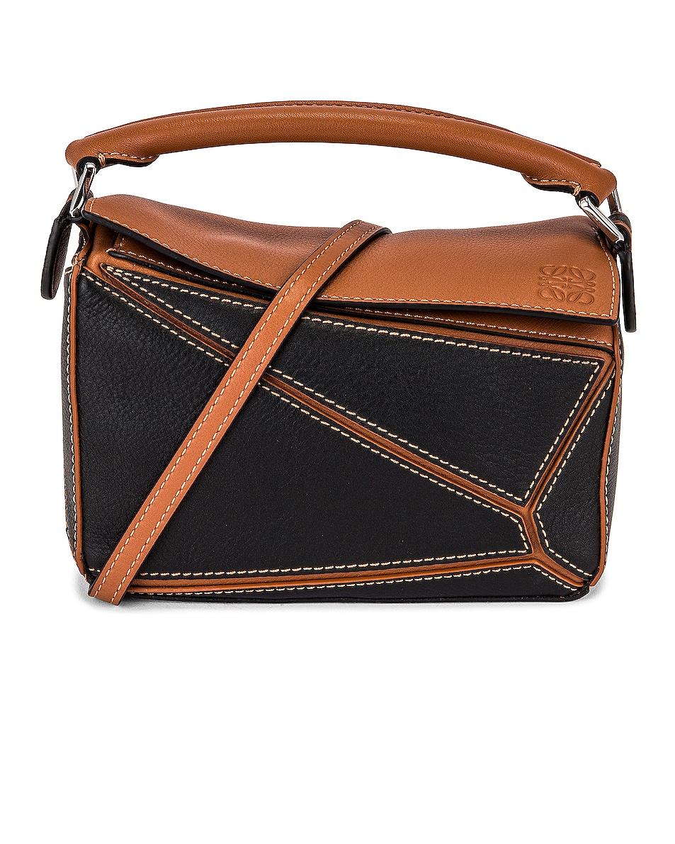 Image 1 of Loewe Puzzle Mini Bag in Black & Tan