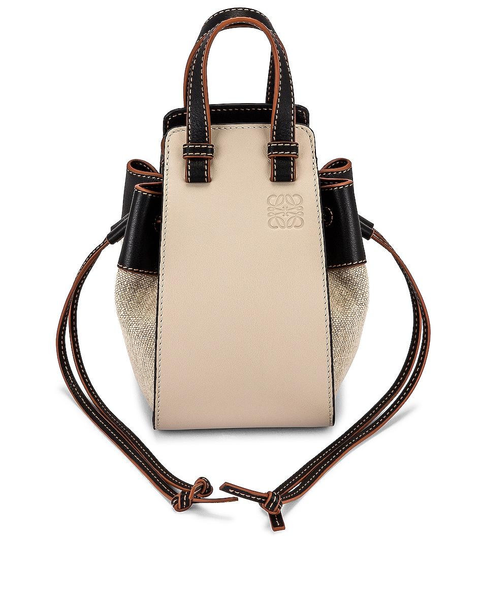 Image 1 of Loewe Hammock DW Mini Bag in Light Oat & Black