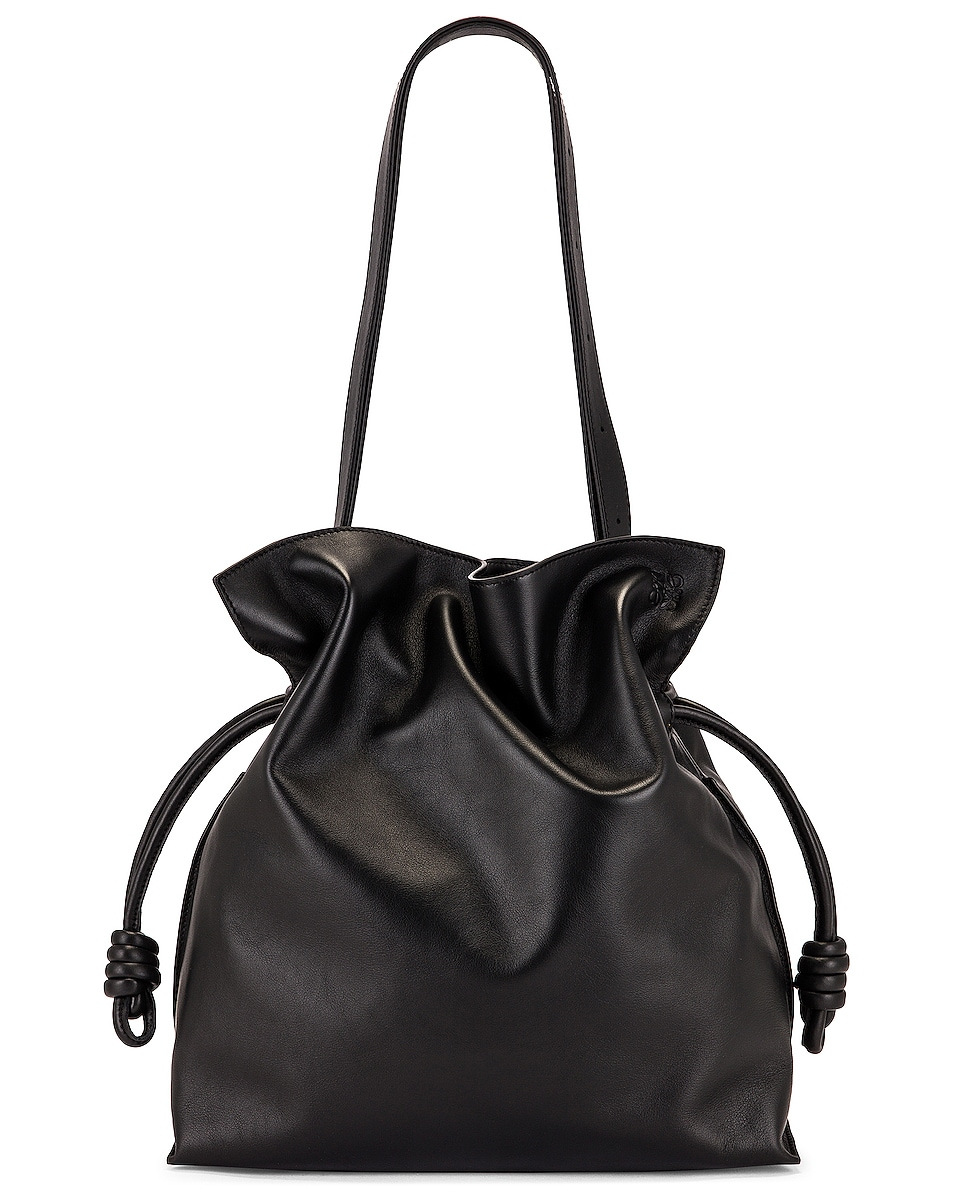 Image 1 of Loewe Flamenco Large Bag in Black