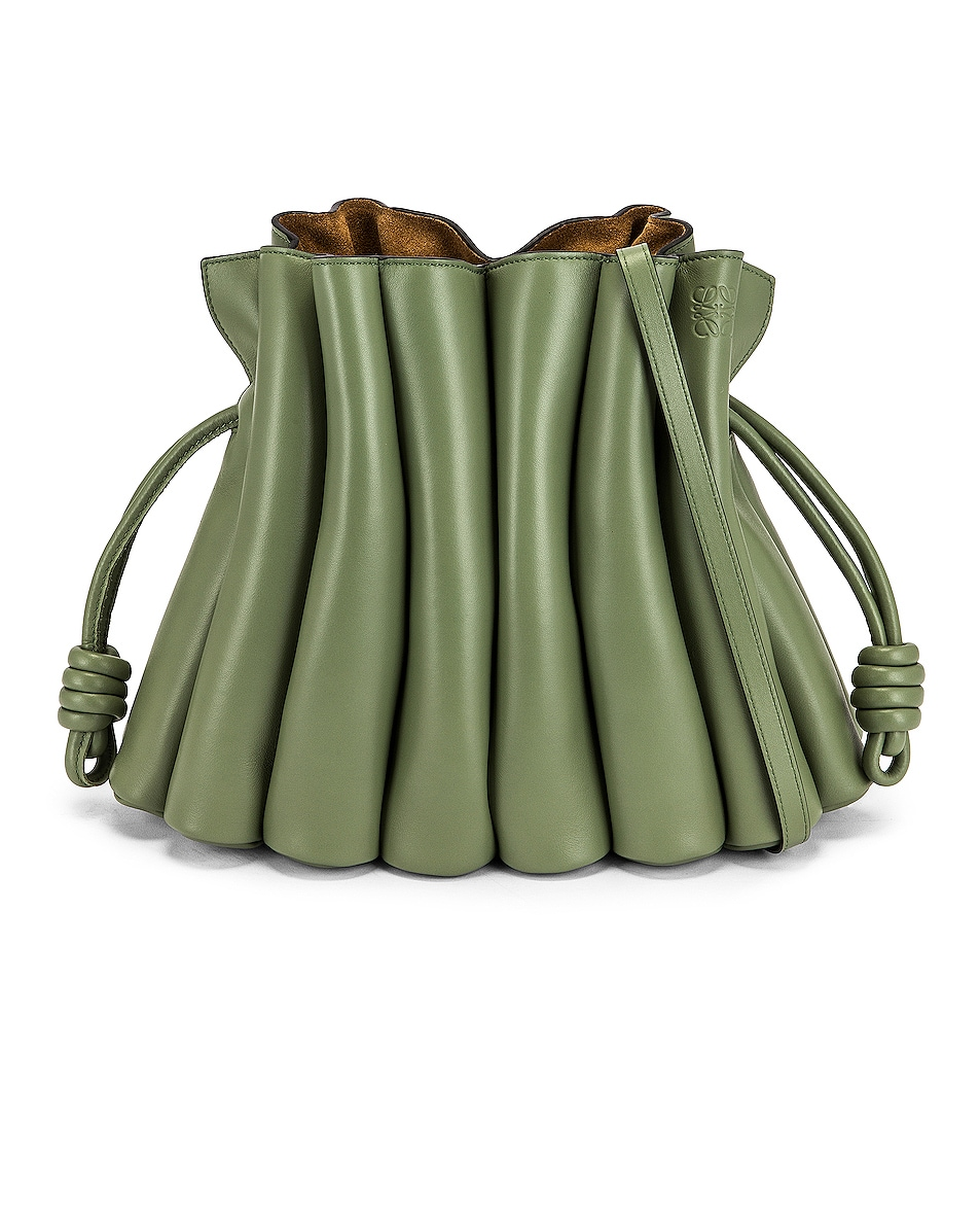 Image 1 of Loewe Flamenco Clutch Ondas in Rosemary