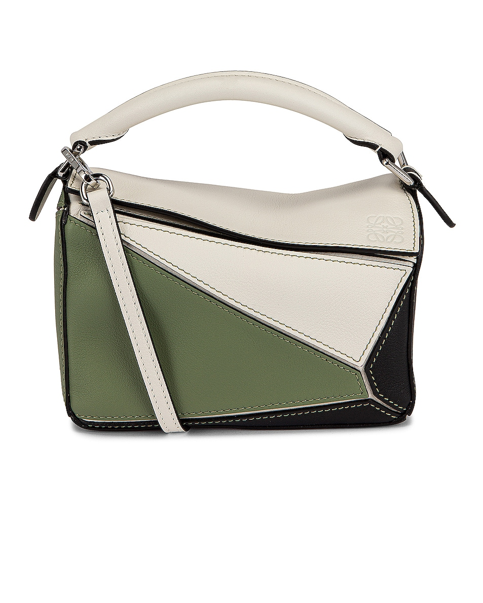 Image 1 of Loewe Puzzle Mini Bag in Soft White & Rosemary