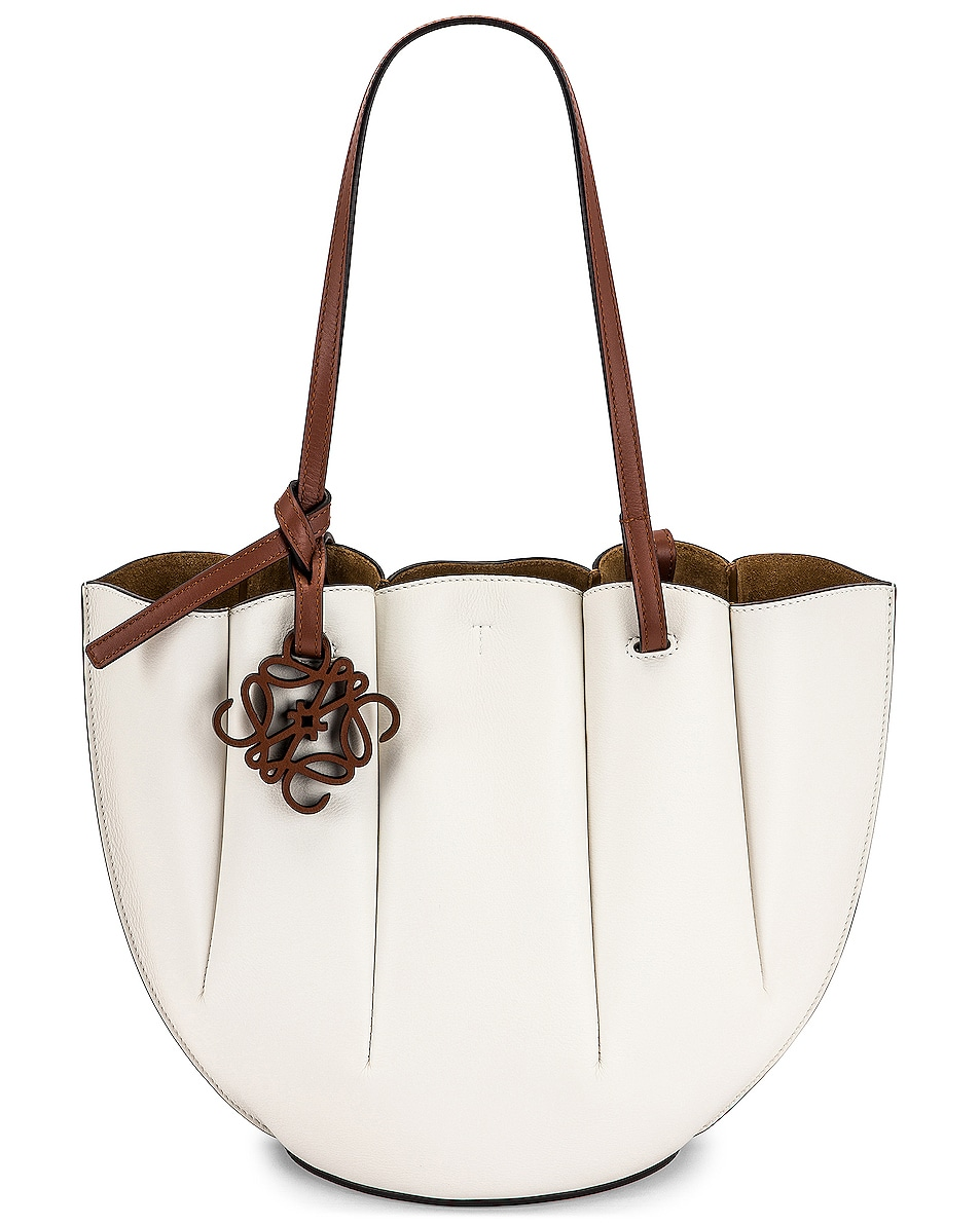 Image 1 of Loewe Shell Tote Small Bag in Soft White