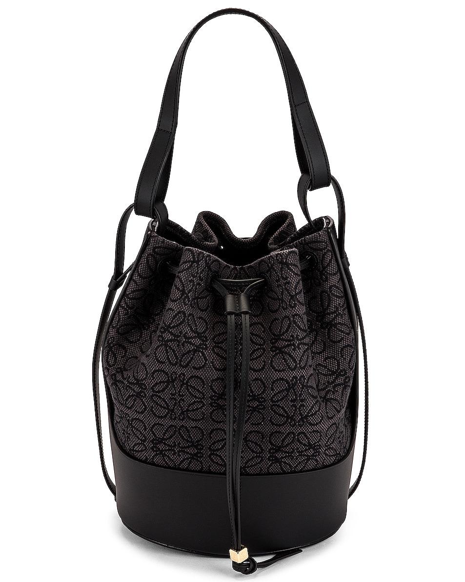 Image 1 of Loewe Balloon Anagram Bag in Anthracite & Black