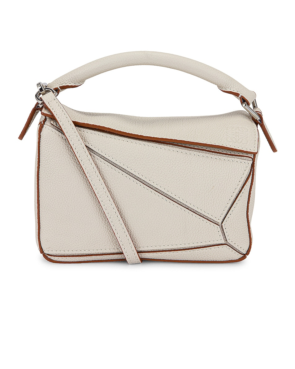 Image 1 of Loewe Puzzle Mini Bag in Soft White