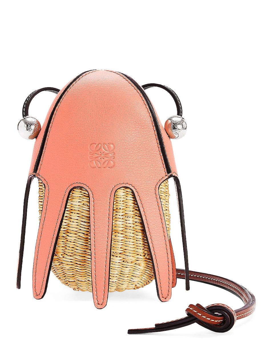 Image 1 of Loewe Paula's Ibiza Octopus Mini Bag in Natural, Pink & Tulip