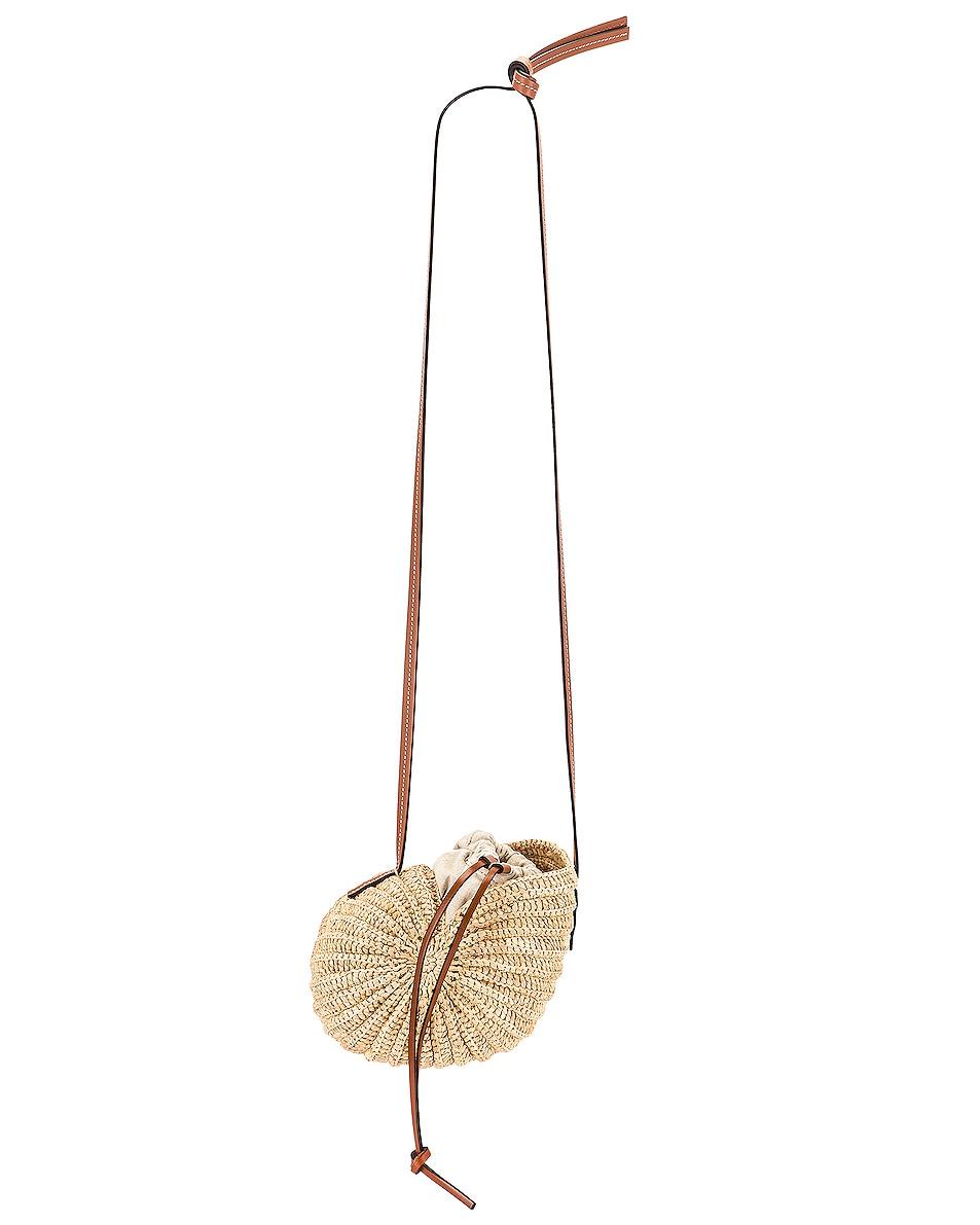 Image 1 of Loewe Paula's Ibiza Moon Shell Bag in Natural & Tan