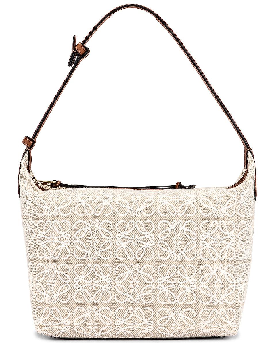 Image 1 of Loewe Cubi Anagram Bag in Ecru & Tan