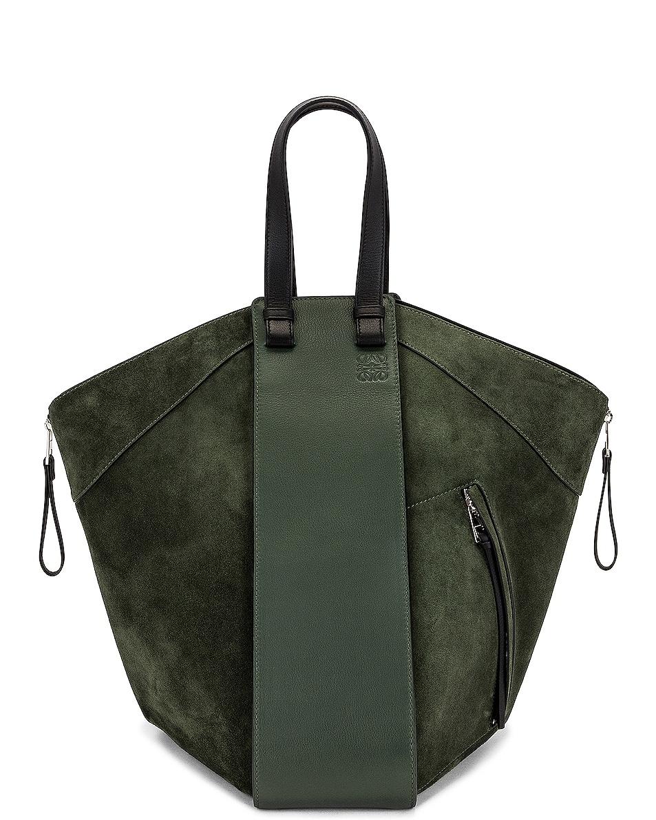 Image 1 of Loewe Hammock Tote Bag in Vintage Khaki & Black