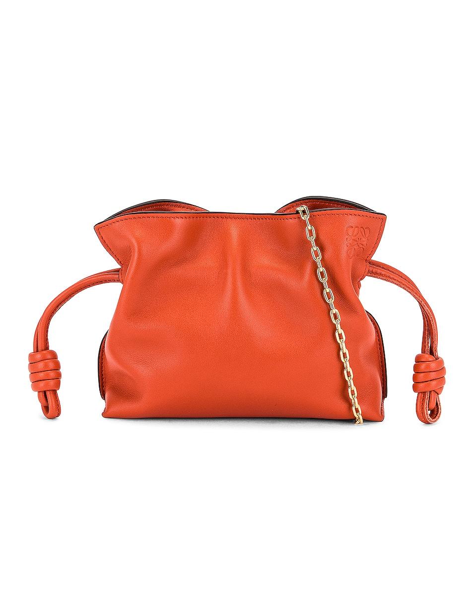 Image 1 of Loewe Flamenco Clutch Nano Bag in Vermillion
