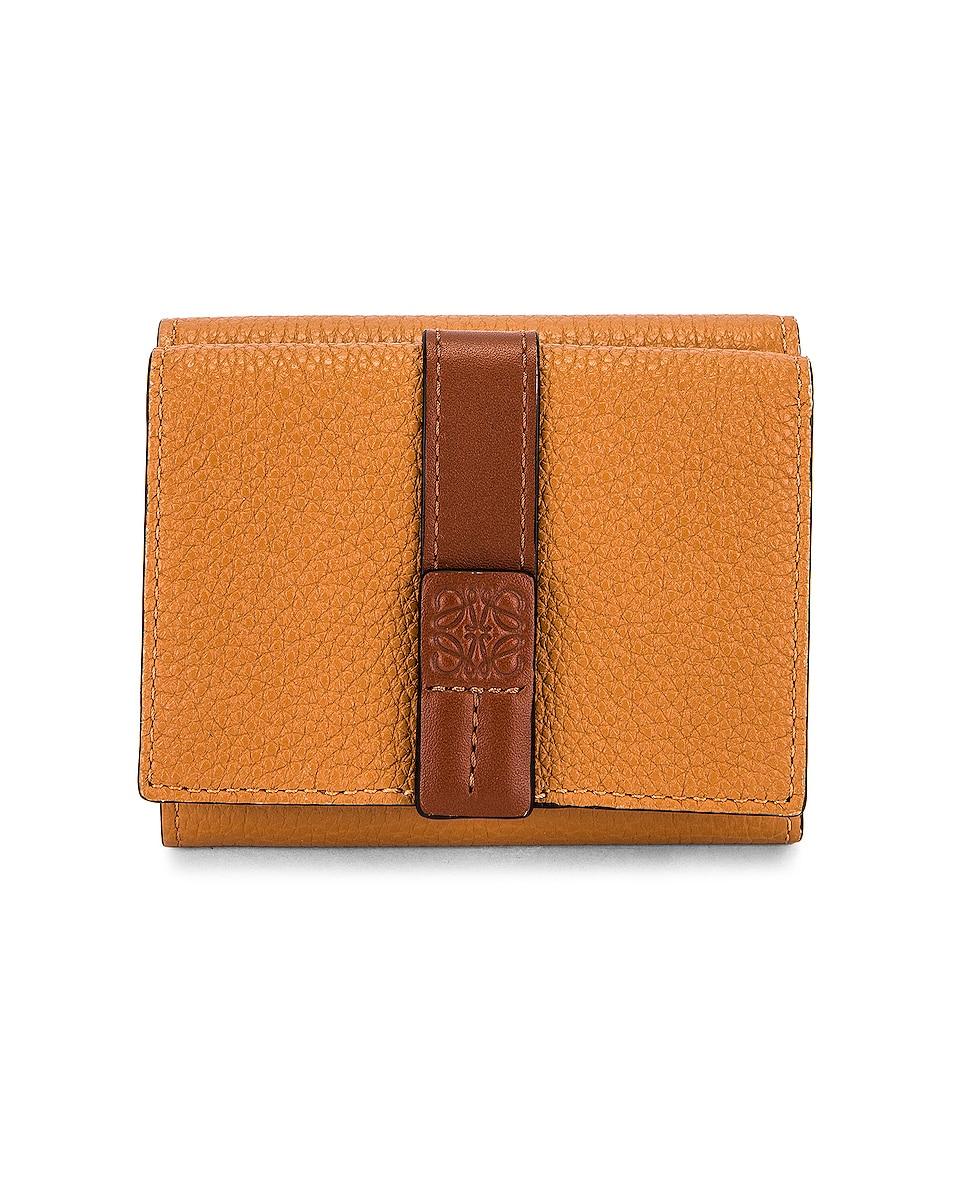 Image 1 of Loewe Trifold Wallet in Light Caramel & Pecan