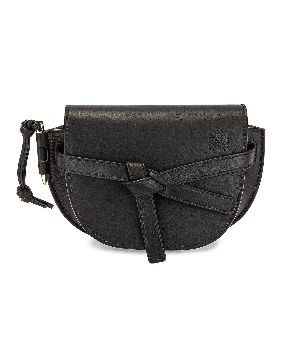 Image 1 of Loewe Gate Dual Mini Bag in Black