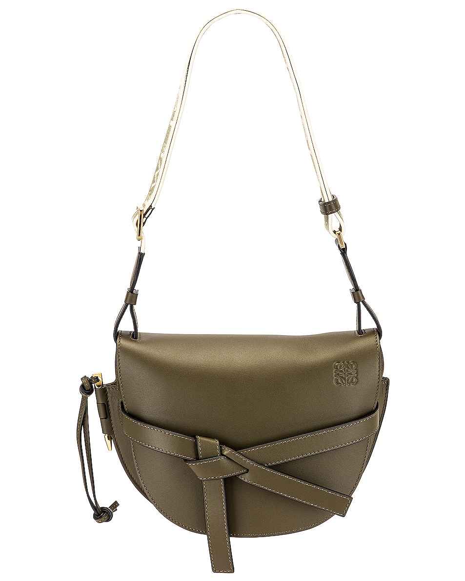 Image 1 of Loewe Gate Small Bag in Autumn Green
