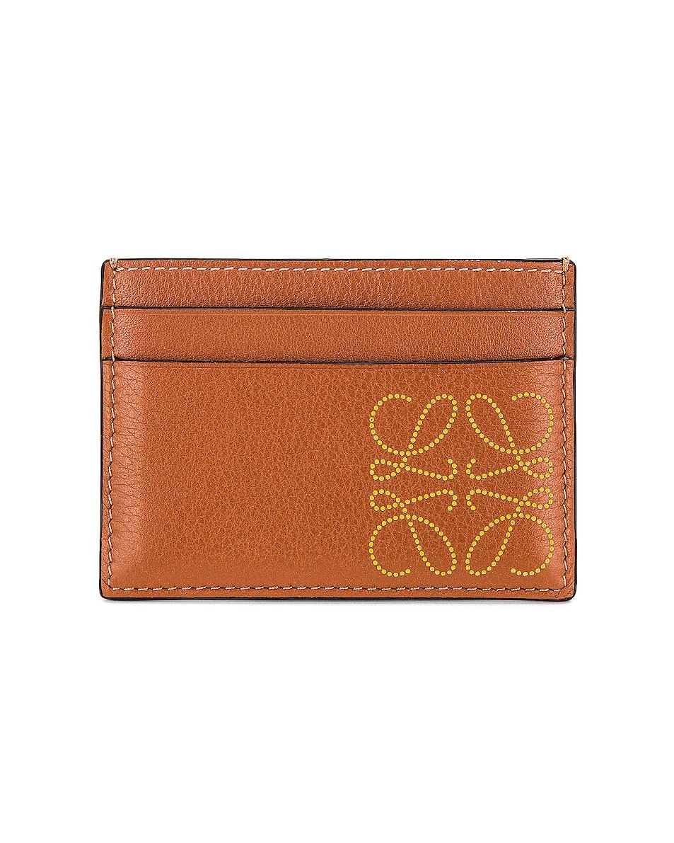 Image 1 of Loewe Brand Cardholder in Tan & Ochre
