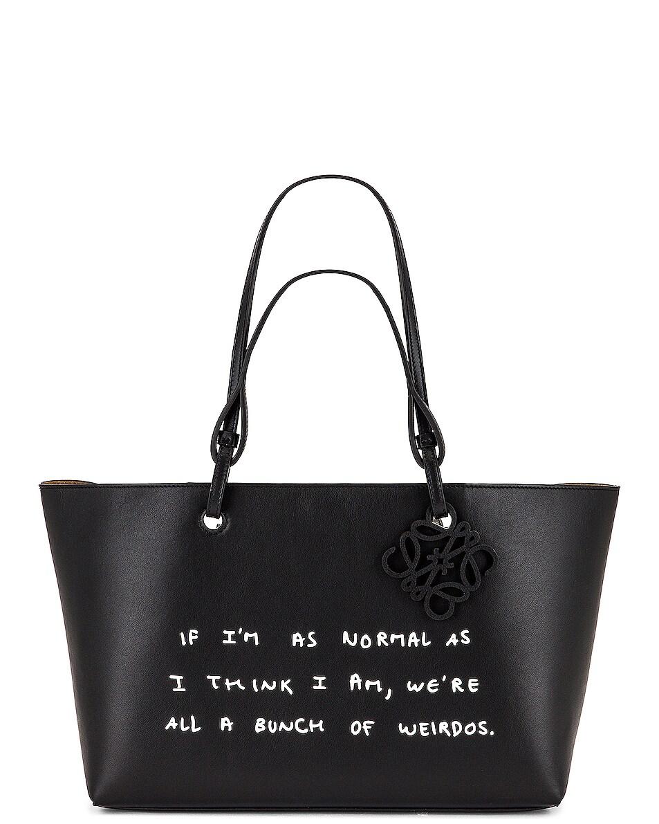 Image 1 of Loewe Joe Brainard DH Words Tote Bag in Black