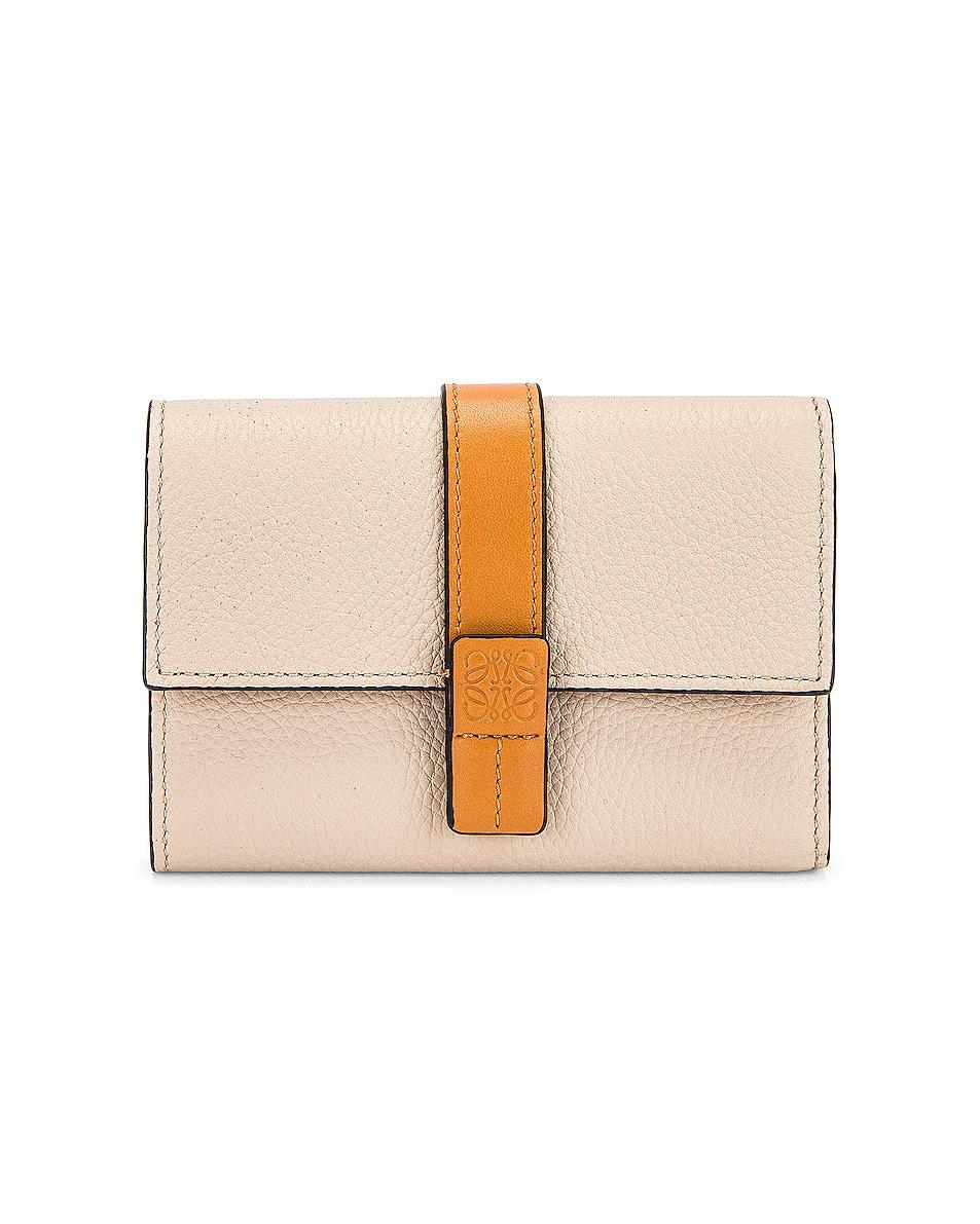 Image 1 of Loewe Small Vertical Wallet in Light Oat & Honey