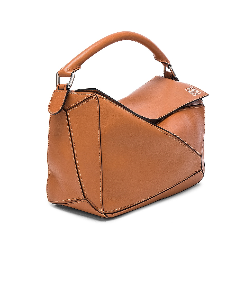 Image 4 of Loewe Puzzle Bag in Tan