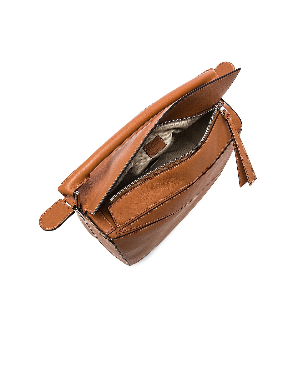 Image 5 of Loewe Puzzle Bag in Tan