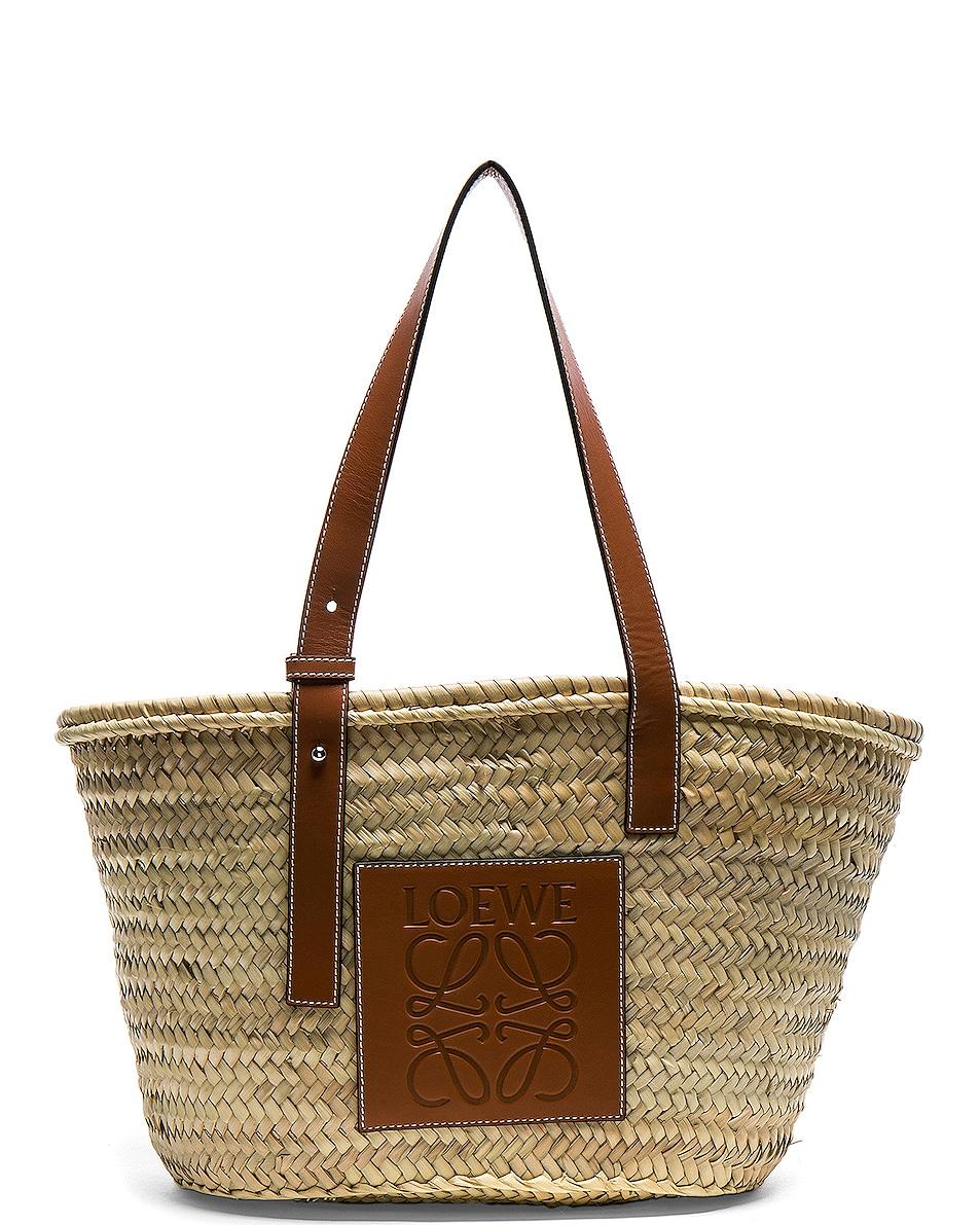Image 1 of Loewe Basket Bag in Natural & Tan