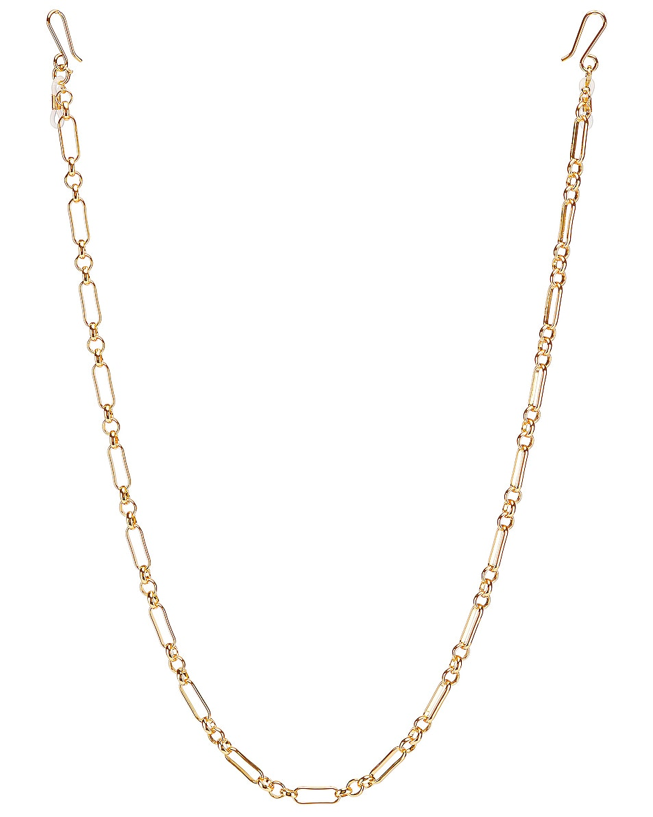 Image 1 of Lele Sadoughi Long Link and Circle Eyeglass Chain in Gold