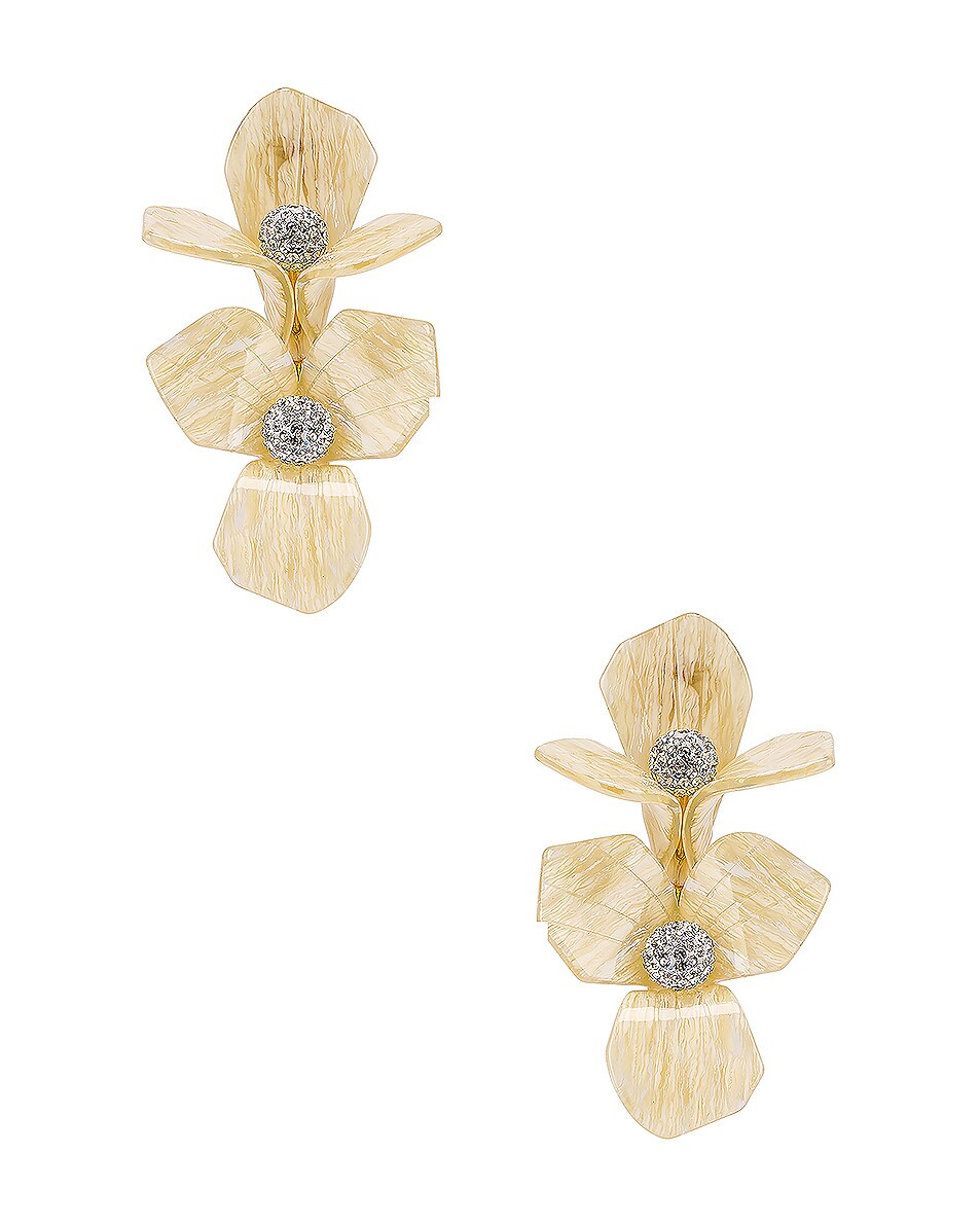 Image 1 of Lele Sadoughi Trillium Bouquet Earrings in Shell
