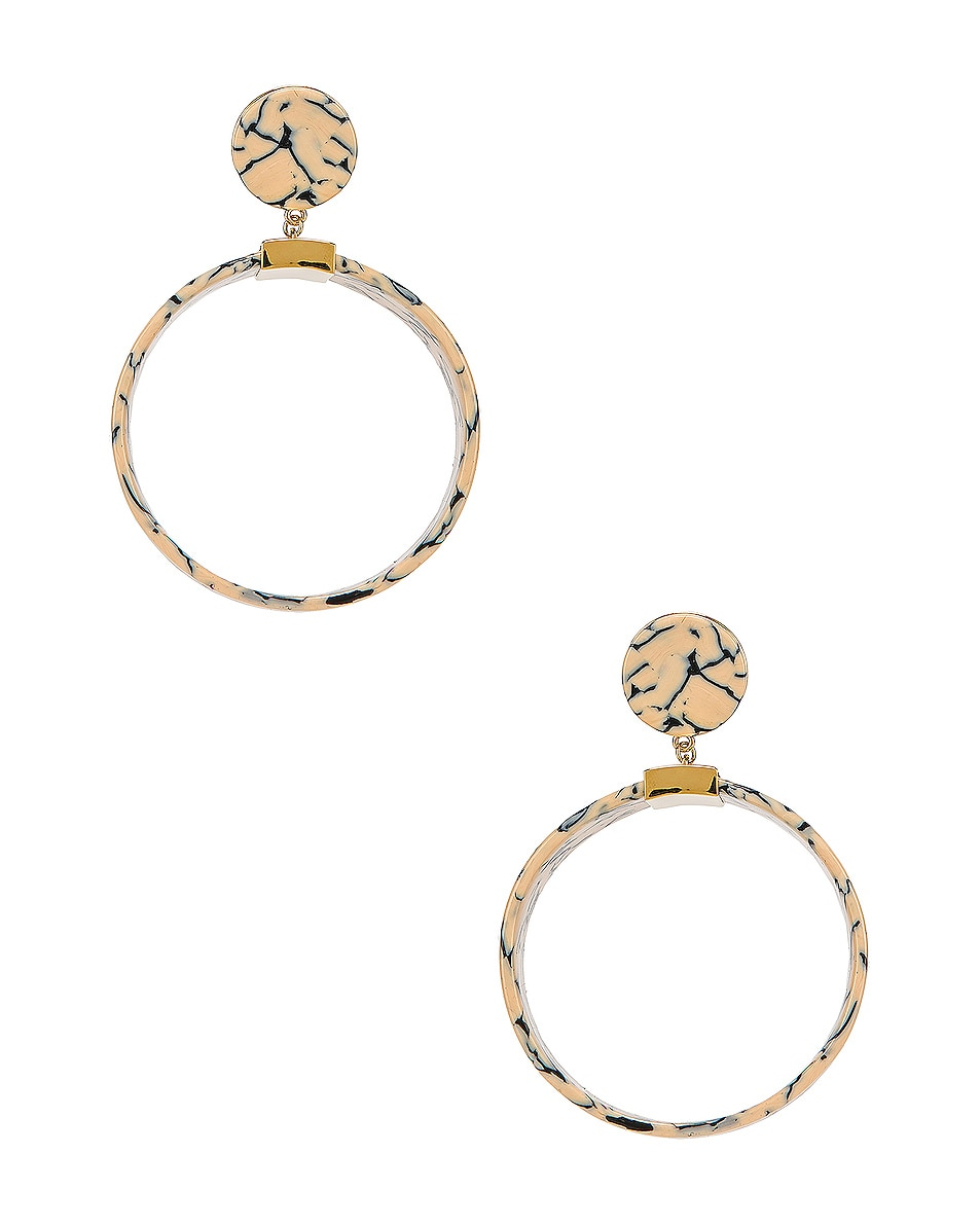 Image 1 of Lele Sadoughi Binocular Hoop Earrings in Splatter Paint