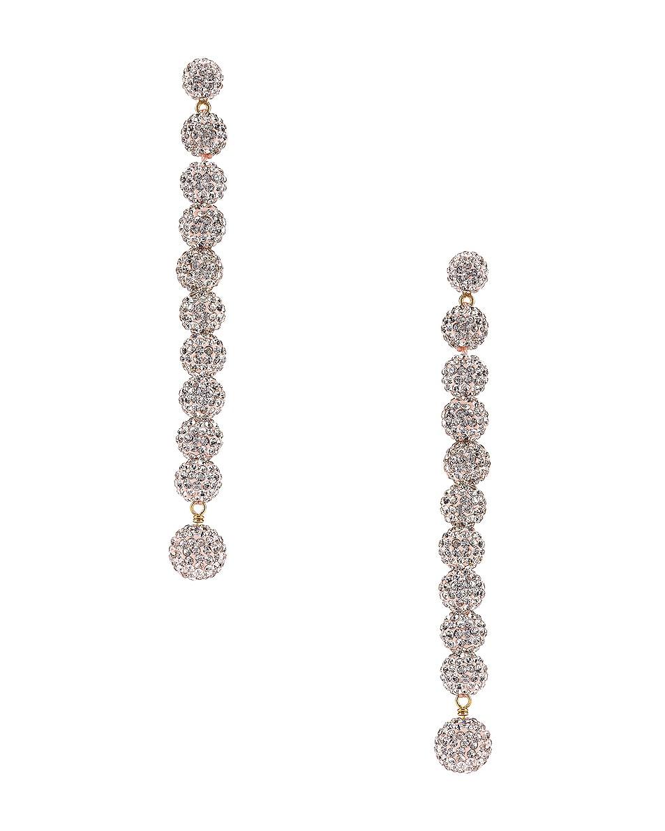 Image 1 of Lele Sadoughi Caterpillar Earrings in Crystal