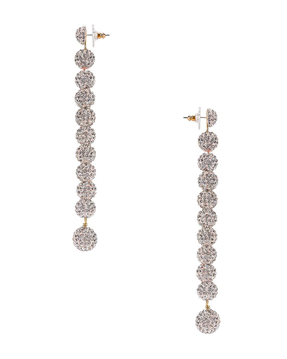 Image 3 of Lele Sadoughi Caterpillar Earrings in Crystal