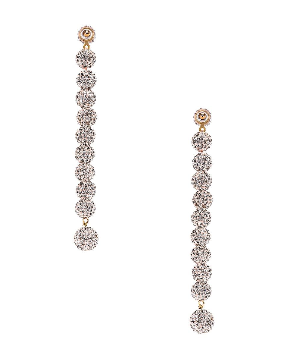 Image 4 of Lele Sadoughi Caterpillar Earrings in Crystal
