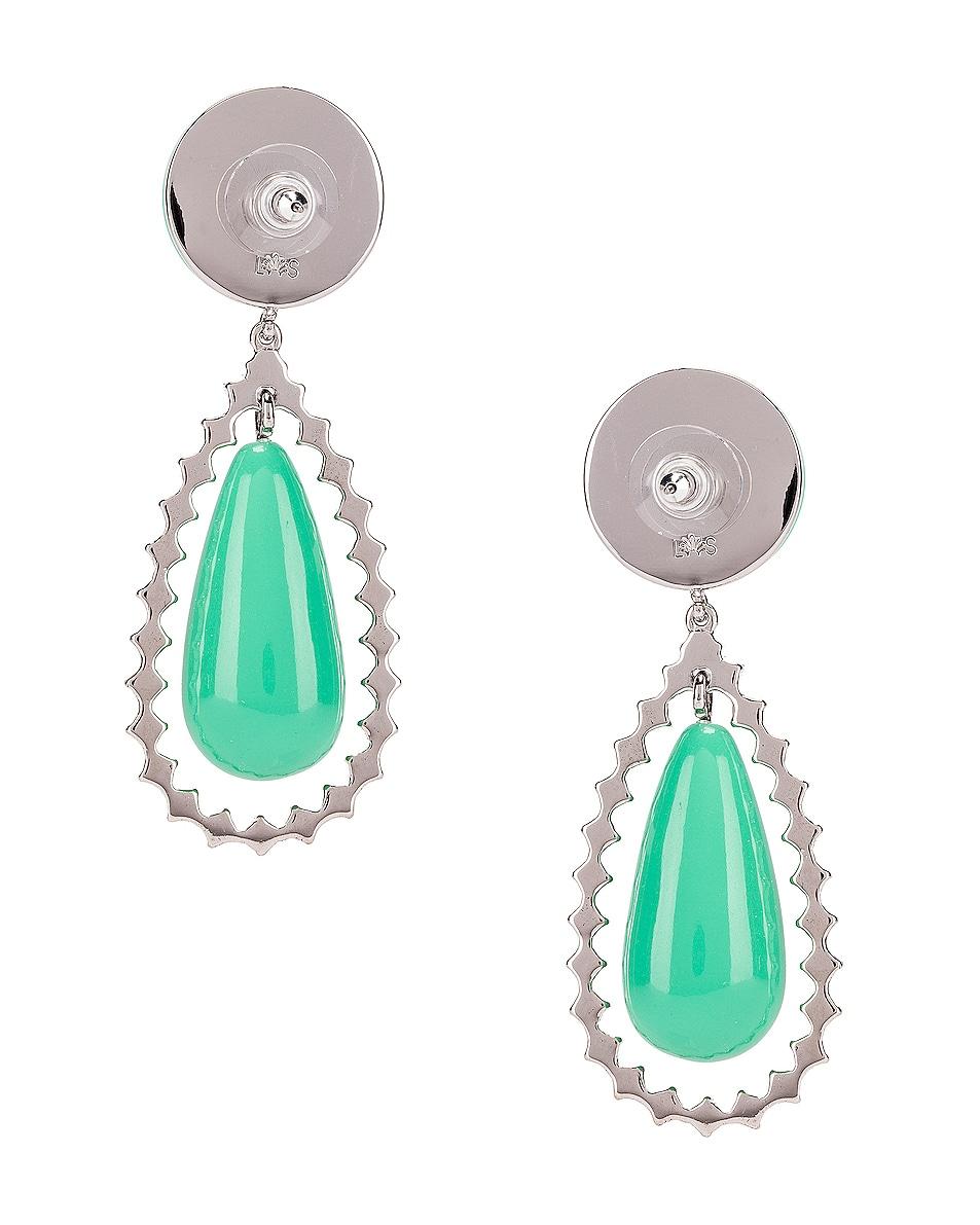 Image 3 of Lele Sadoughi Crystal Tear Drop Earrings in Pistachio